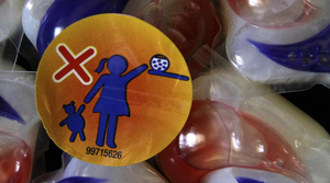 Tide Pods with warning label