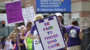 Nurses Strike In Rhode Island