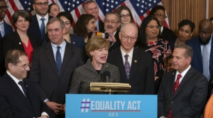 Senator Baldwin and members of Congress announce Equality Act