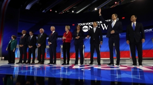Democratic candidates for president at September 12 debate