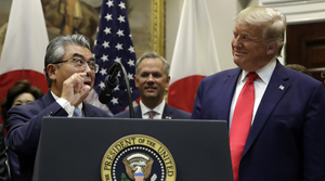 Japanese Ambassador to the U.S. with President Trump