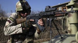 Security personnel near Bagram Air Base In Afghanistan