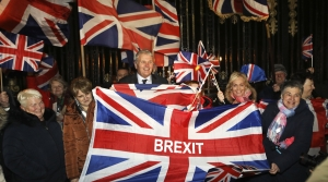 British citizens celebrating Brexit