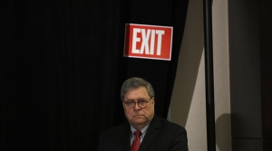 U.S. Attorney General William Barr waiting to speak to the National Sheriffs' Association