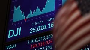 A board following the Dow Jones Industrial Average