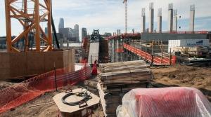 Construction Minneapolis Minnesota Football Stadium Pollution Building