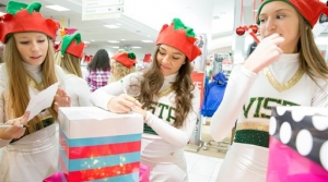 High school cheerleaders write letters to Santa