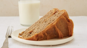 Banana Peel Cake with Peanut Butter Frosting