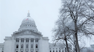 Wisconsin state Capitol building on a winter morning