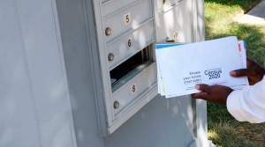 A 2020 Census form is returned by mail