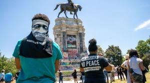 confederate statue black lives matter floyd protest