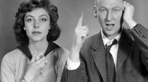 Comedy team Elaine May and Mike Nichols