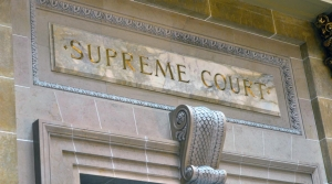 Stone entryway to Wisconsin State Supreme Court room