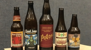 Lineup of winter Wisconsin beers and cider