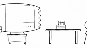 Absurd scientific suggestion for blowing out birthday candles