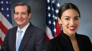 Senator Ted Cruz and Representative Alexandria Ocasio-Cortez