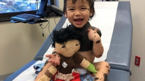 doll, toys, physical difference, boy, hospital