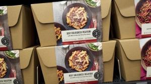 Amazon Meal Kits displayed on a shelf