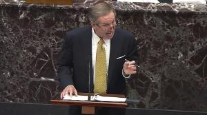 Michael van der Veen speaks during the second impeachment trial of Trump