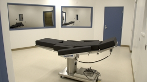 The execution chamber at the Ely State Prison in Eli, Nev.