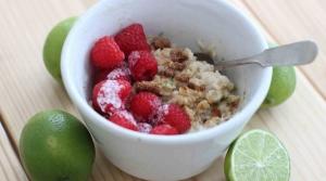 Raspberry lime oatmeal