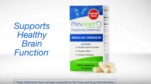 Screenshot from a Prevagen ad