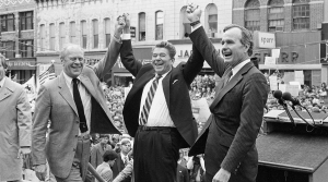 Gerald Ford, Ronald Reagan and George H.W. Bush campaigning