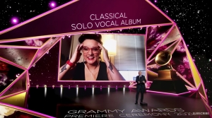 Madison soprano Sarah Brailey accepts Grammy award for Best Classical Solo Vocal Album