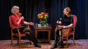 """""""To The Best Of Our Knowledge"""" host Anne Strainchamps (left) interviews """"The Library"""" author Susan Orlean"""