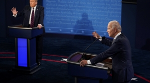 President Donald Trump and former Vice President Joe Biden debate on Sept, 29, 2020