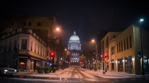 Wisconsin State Capitol in the winter