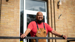 Chef Yia Vang stands in front of Vinai in St. Paul, Minn.