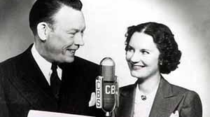 Photo of radio host Fred Allen and his wifePortland Hoffa