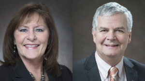 From left to right: State Senators Kathy Bernier, R-Chippewa Falls and Jeff Smith, D-Eau Claire.