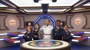 Agents at Odd Squad headquarters