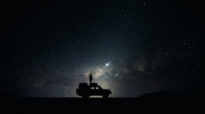 star gazing from top of car