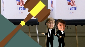 gavel voting illustration