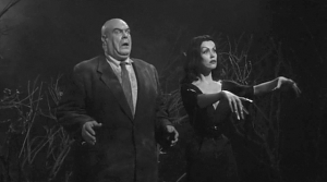 "Tor Johnson and ""Vampira"" (Maila Nurmi) in ""Plan 9 from Outer Space"""