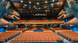 Interior of the RCU Theater at the Pablo Center at the Confluence.