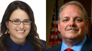 Wausau mayoral candidates Katie Rosenberg and Mayor Robert Mielke