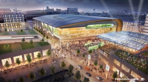 Rendering of the plans for a new Milwaukee Bucks arena