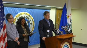 Milwaukee County Clerk Joseph Czarnezki, County Elections Director Julietta Henry, and City Elections Commissioner Neil Albrecht