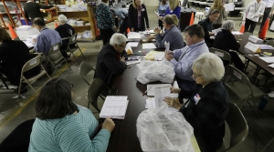 People helping in Wisconsin recount