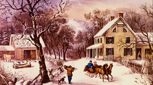 Currier and Ives painting
