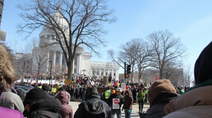 Read full article: Thousands Protest Against Right To Work In Madison Over Weekend