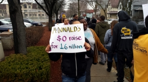Read full article: Activists Call For Higher Wages At McDonald's Restaurants