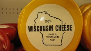 wheel of Wisconsin cheese