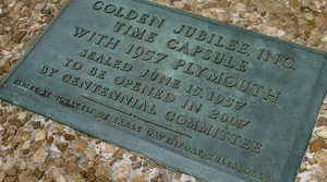 time capsule plaque