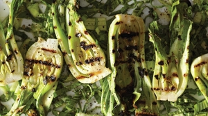 Grilled Baby Bok Choy with Miso Butter