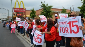 Workers Picket Outside of a McDonald's For $15 An Hour